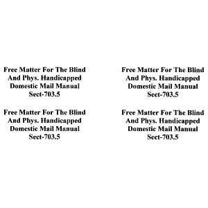 """Free Matter for the Blind"" Peel-Off Stick-On Labels (90 Count)"