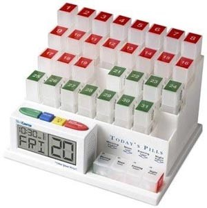 MedCenter System™ Talking One-Month Medication Organizer