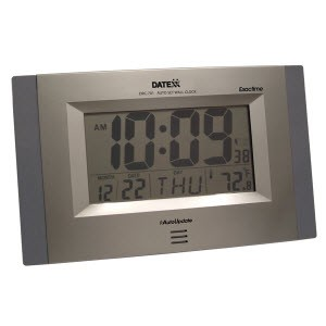 Jumbo-Size Radio Controlled Wall/Desk Clock by Datexx