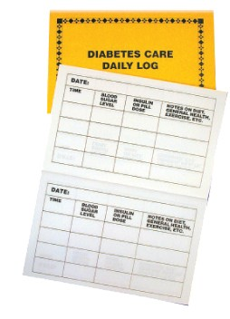 Diabetes Care Daily Log Diabetic Calendar