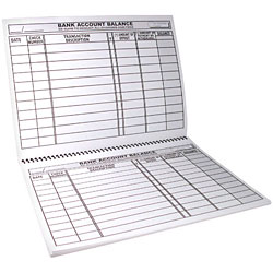 Large Print Check and Deposit Register (600 Entry)