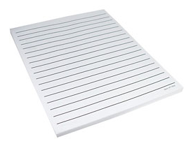 Bold Lined Writing Paper/White