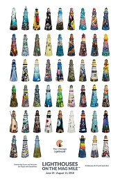 Lighthouses on The Mag Mile Poster Celebrating Access and Inclusion