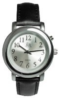 Lady's Silver-Tone Low Vision Silver Face Watch
