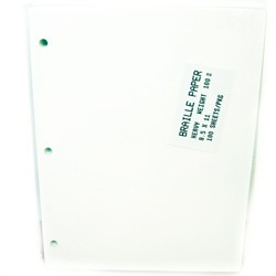 3-Hole Punched Heavy Weight Braille Paper (100 sheets)