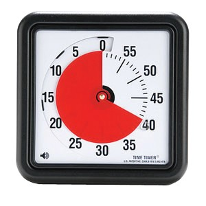 Time Timer® Red Disk Audible Time Indicator