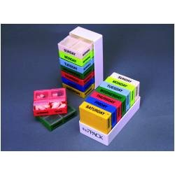 Brailled Rainbow Daily Pill Box with 4 Compartments