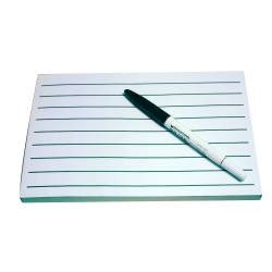 "9/16"" White Note Pad Bold-Line Writing Paper"