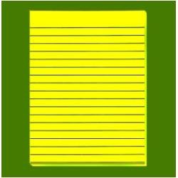 "9/16"" Yellow Bold-Line Writing Paper"