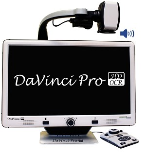 The Davinci Pro is seen from the front with its name displayed on its screen