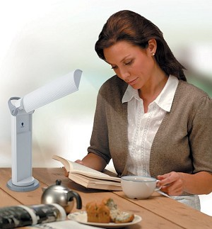Easy-Twist Portable Lamp (White)