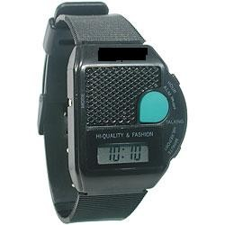 Unisex Talking Square Green Button Watch