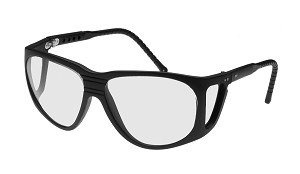 Noir 40% LIGHT AMBER NON-FITOVER W/ADJUSTABLE TEMPLES & SIDE SHIELDS