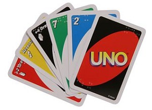 Brailled Uno Cards