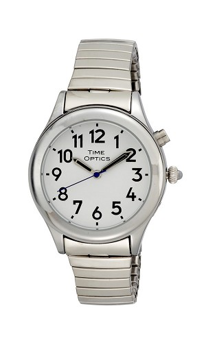 Time Optics Talking Watch Ladies Grey