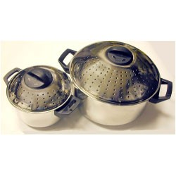 Pasta Pot Set with Locking Lid 2 quart & 6 quart